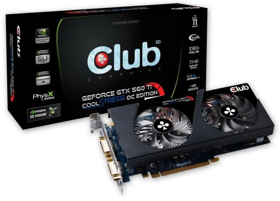 Club 3D GeForce GTX 560Ti CoolStream OC Edition